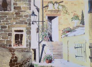 Sunny back street in Haworth