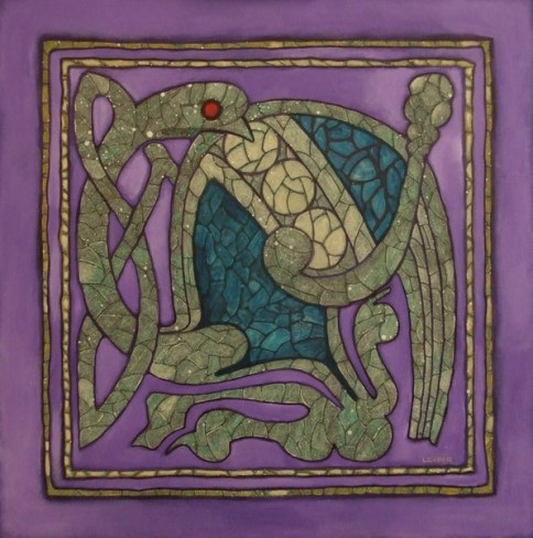 Celtic bird design from the Book of Kells