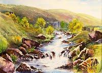 Crimsworth Dean, Hebden (Watercolour)