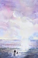Lavender Skies (Watercolour)