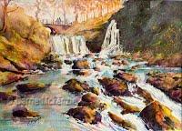 Lumb Hole Falls, Hebden Bridge (Watercolour)
