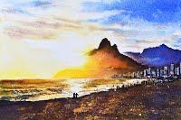 Sundowners (Watercolour)